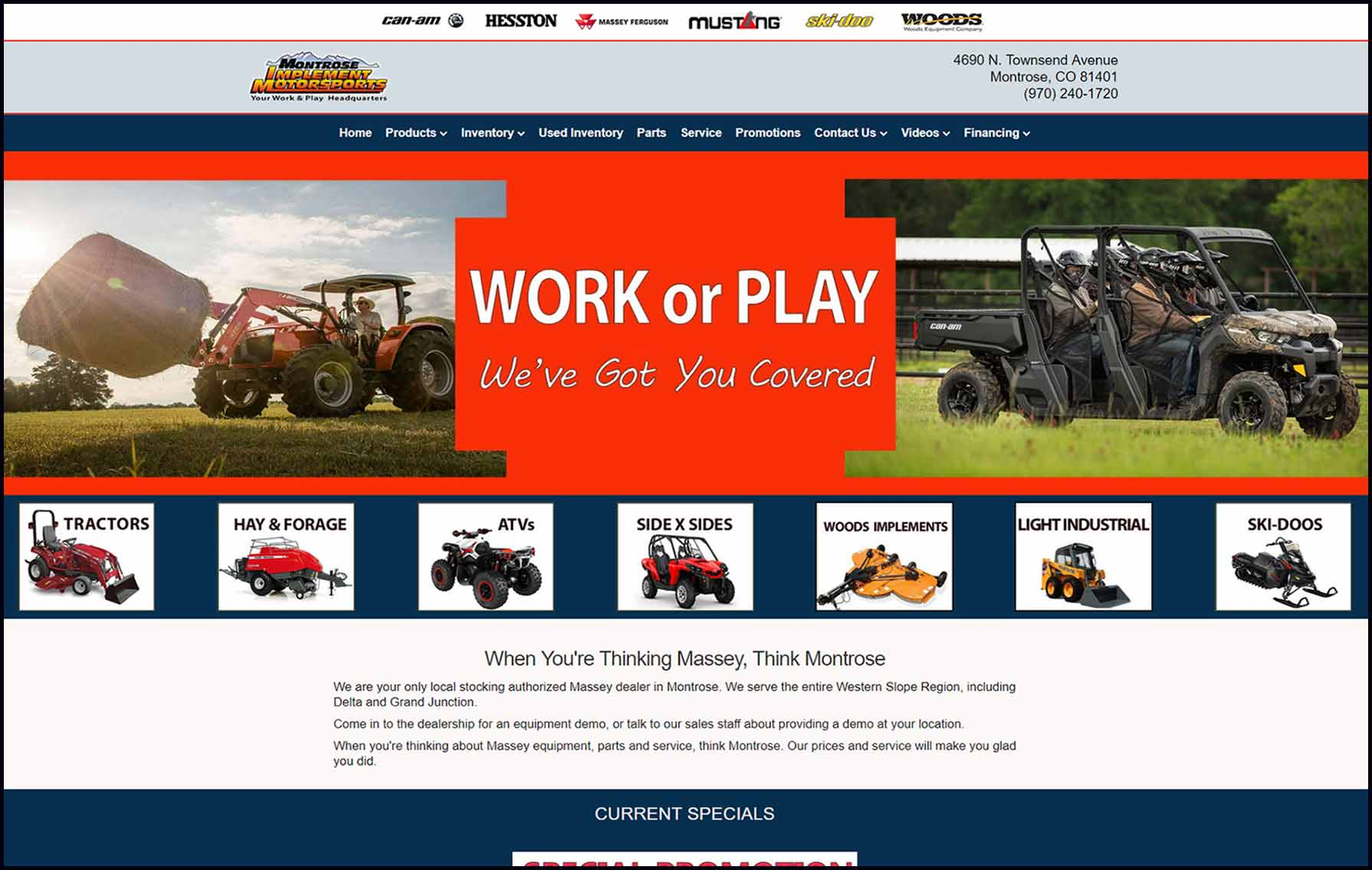 montrose implement homepage image