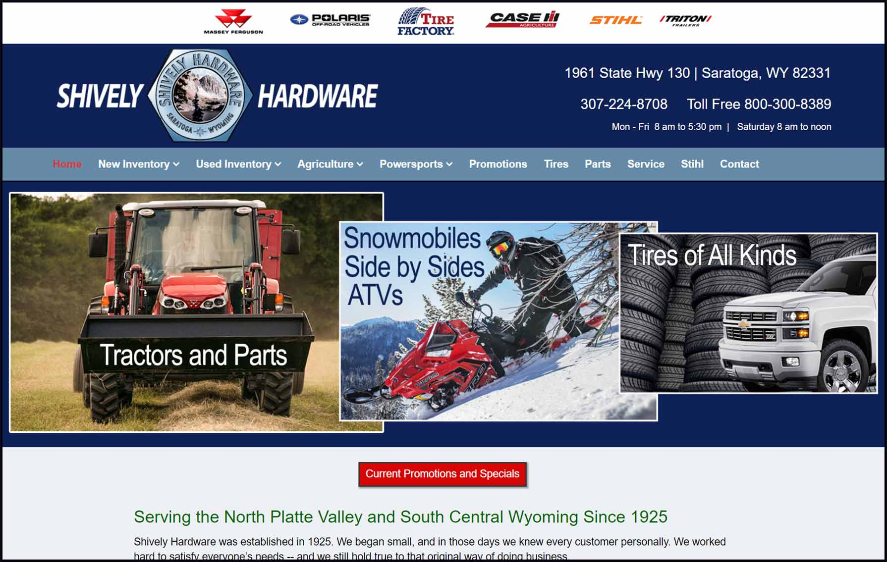 shively hardware homepage image